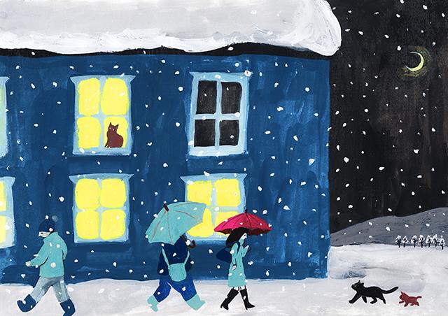 草野_雪と窓
